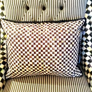 MacKenzie-Childs Courtly Check Ruffled Pillow
